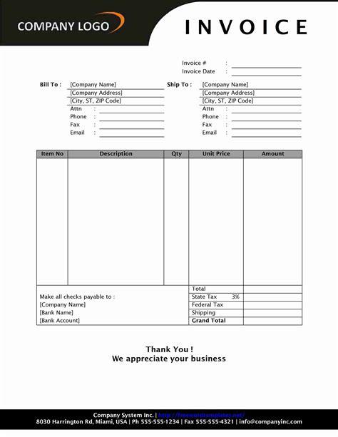 cash invoice template invoice