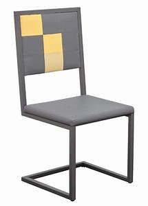 Chaise En Acier : chaise acier design great lot de chaises design aix turkis en acier bleu turquoise with chaise ~ Teatrodelosmanantiales.com Idées de Décoration