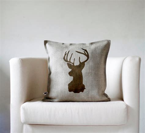 reindeer family pillow cover adorable home