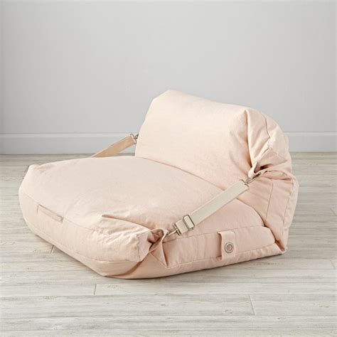 pink bean bag bed chair the land of nod