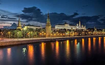 Moscow Desktop Russia Summer Russian Kremlin River