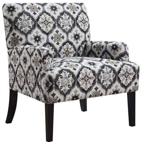 grey kaleidoscope pattern accent chair from coaster
