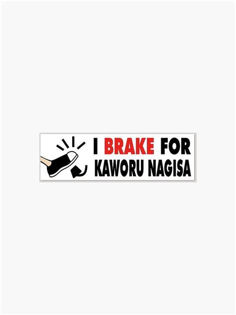 i brake for kaworu nagisa sticker by ihugchuuya redbubble