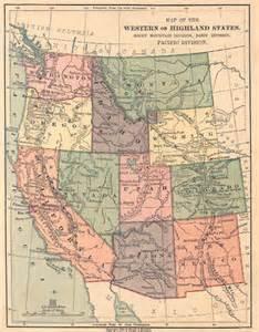 Map Western U.S.A. States