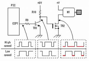 circuit explanation for dc motor speed controller With pwm control circuit