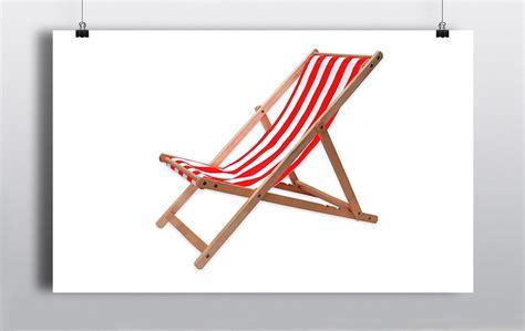 Retro Red Stripe Deck Chair