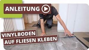 Vinylboden Kleben Anleitung : vinylboden auf fliesen kleben youtube ~ Frokenaadalensverden.com Haus und Dekorationen