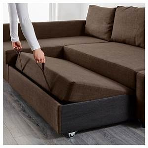 Friheten corner sofa bed with storage skiftebo brown ikea for Sectional sofas at ikea