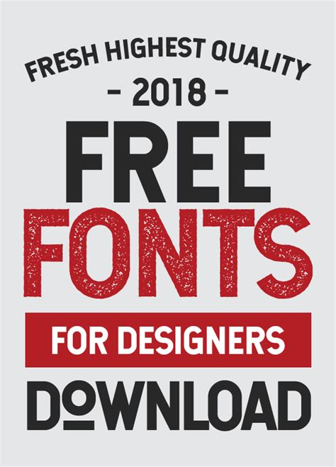 25 Freshest Free Fonts For Graphic Designers Fonts