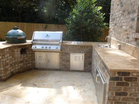 outdoor tile countertops grill travertine counter