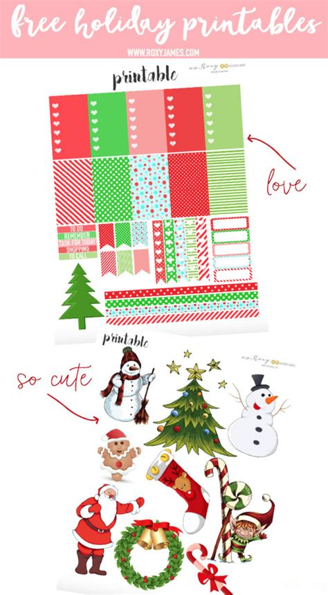 holiday planner stickers printable roxy james