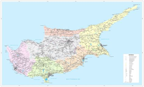 road map  cyprus tourist map  cyprus maps