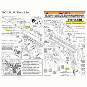 Tippmann Model 98 Gun Diagram