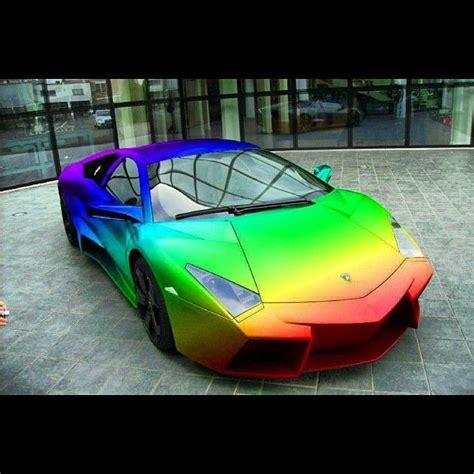 rainbow chrome lamborghini cars lamborghini rainbow for sam dream machines pinterest