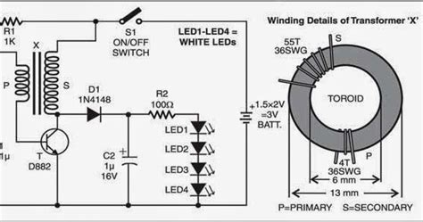 Circuit Diagram Led Torch by Wiring Diagram Info Simple Led Torch Wiring Diagram