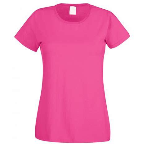 Hot Pink Womens T-shirt