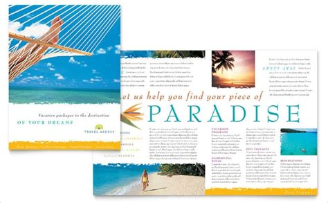 vacation brochures  psd ai indesign vector
