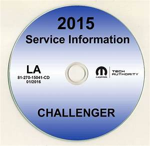 2015 Dodge Challenger Shop Service Repair Manual Cd