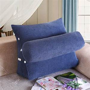 Wedge, Shaped, Reading, U0026, Tv, Pillow, With, Adjustable, Neck, Pillow, Triangle, Pillow, Back, Support