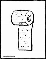 Toilet Paper Roll Colouring Drawing Kiddicolour Coloring Pages 01v Draw Bart Simpson Line Receiver Mail sketch template