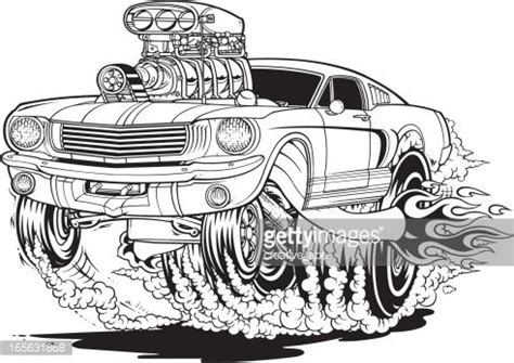 vector illustration   cartoon style mustang muscle