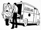 Ambulance Coloring Realistic Pages Driver Hospital Patient Carry Important Very Vehicle Nearest Currently sketch template