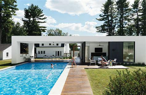 Pool House En Kit Alert Modern Prefab Poolhouse Addition To A 1920s Sears Kit House Dwell