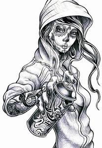 Graffiti Girl Characters   draw, girl, graffiti, hip-hop ...
