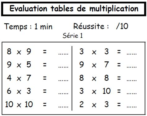 tables de multiplication a imprimer ce2 table de multiplication ce2