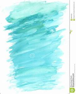 Aqua Blue Watercolor Wash Splash Background Stock ...