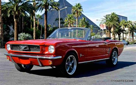 Luxurius Car : Classic Mustang Los Angeles
