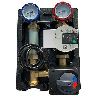3 wege mischer fussbodenheizung heizkreisset pumpengruppe heizkreis 3 wege mischer