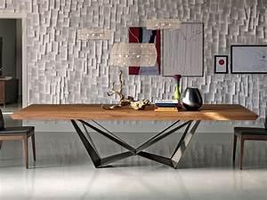 Esstisch Holz Metall Design : cattelan italia design esstisch skorpio wood online kaufen ~ Buech-reservation.com Haus und Dekorationen