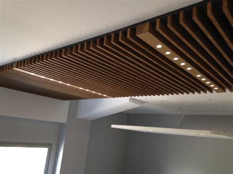 chambre acoustique plafond bois batileds éclairage par led pour plafond