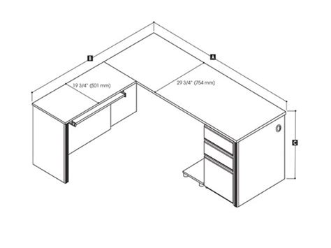 Desk Depth by L Shaped Office Desk Dimensions Ideas Greenvirals Style