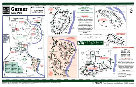 Fort mountain state park trail map 181 fort mtn. Garner State Park - The Portal to Texas History