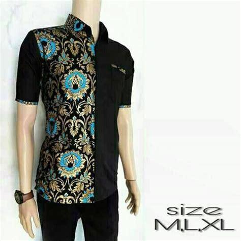 model baju batik pria kombinasi terbaru mesin jahit