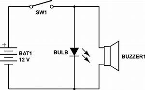 Circuit Design - How To Connect A Bulb And Buzzer To Be Operated By One Switch