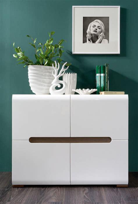 white gloss sideboard dresser buffet  door cabinet modern