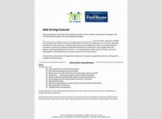 Safe Driving Contract Fred Beans