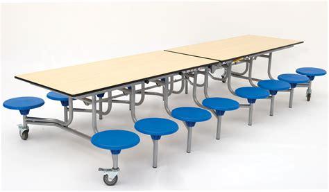 rectangular mobile folding table seating unit school
