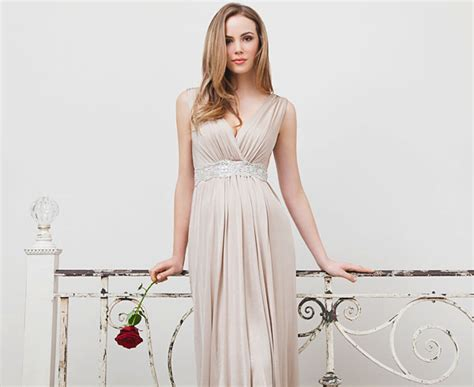 Anastasia Maternity Dress Short (gold Dust)