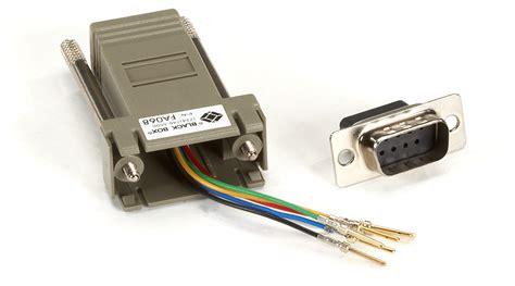 modular adapter kit db9 to rj11 black box
