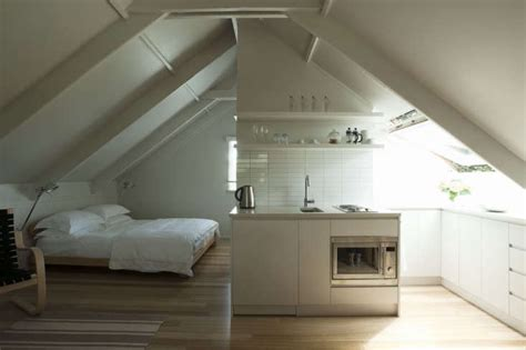 small space living  airy studio apartment   garage