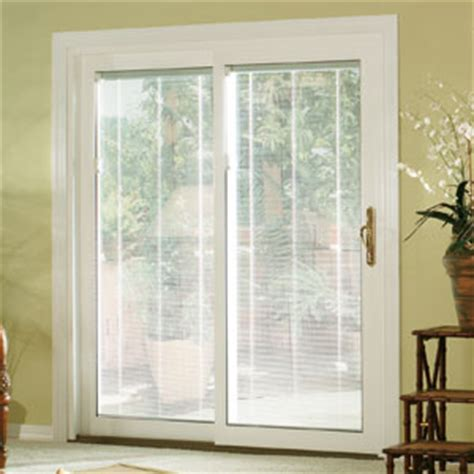 vinyl sliding patio door with blinds nj