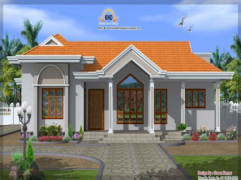 Front Elevation Single Story House Single Floor House