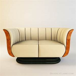 Art Deco Tulip Loveseat & Club Chair - Beverly Claire