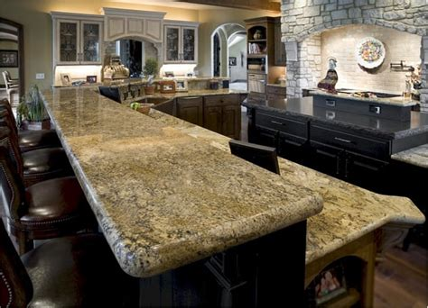 granite countertops with laminated eased edge and