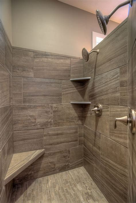 In Shower by Walk In Tile Master Shower With Corner Seat And Corner