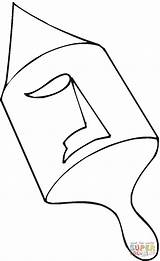 Dreidel Coloring Pages Printable Drawing sketch template